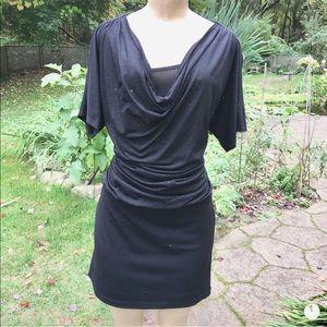 RONNIE NICOLE Sz8 nwot Black Sparkly Dress glitter